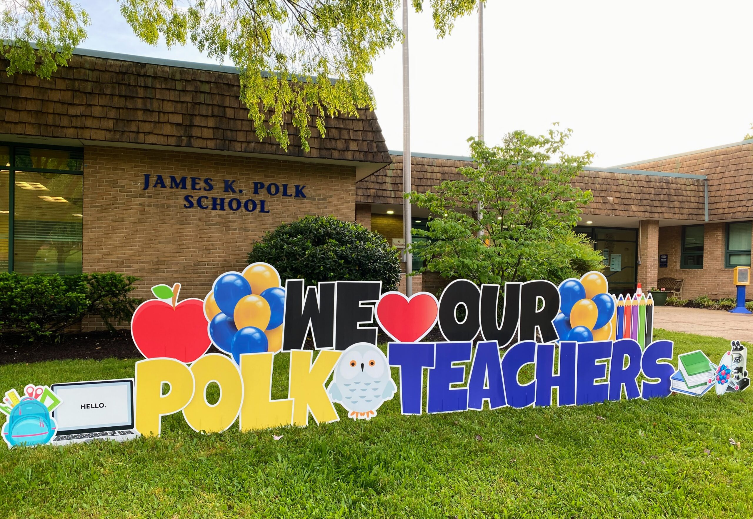 polk teacher appreciation yard sign alexandria va