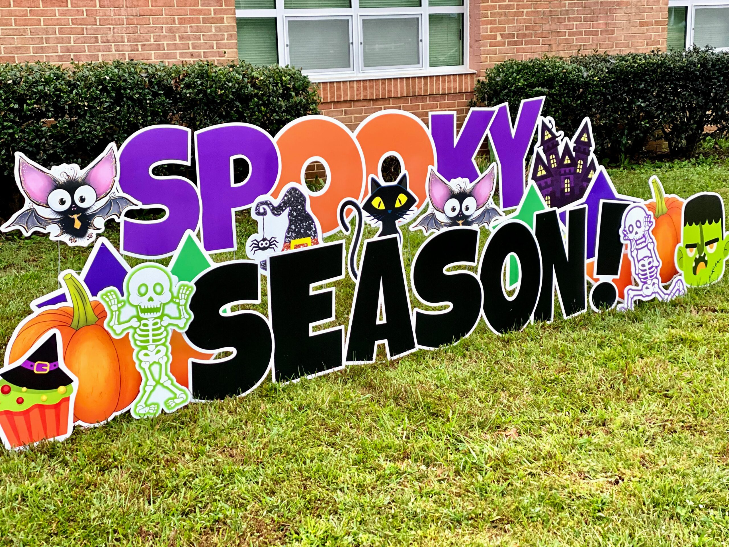 spooky season halloween yard card springfield va