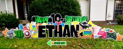 10th birthday green yard sign burke va
