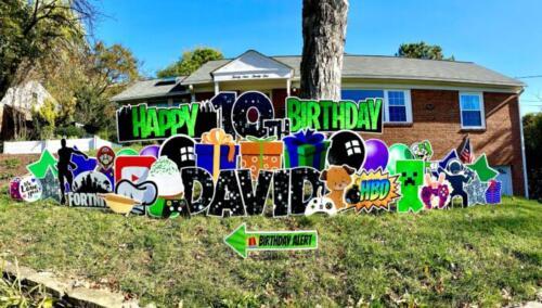 10th birthday yard sign alexandria va