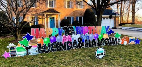 10th rainbow birthday yard card alexandria va