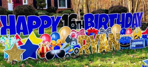 16th birthday yard card fairfax station va