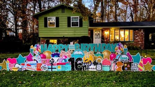 16th birthday yard sign fairfax va