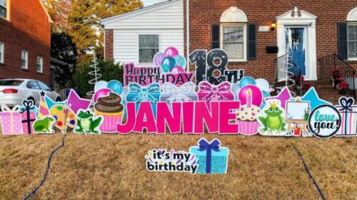 18th birthday yard sign alexandria va
