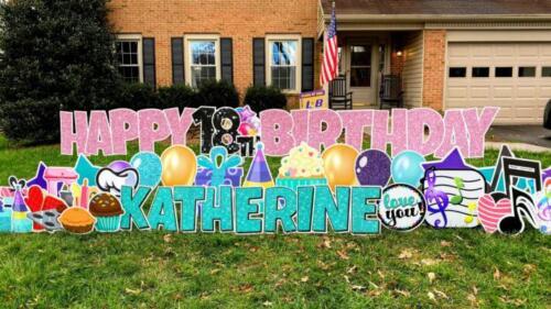 18th happy birthday yard sign springfield va