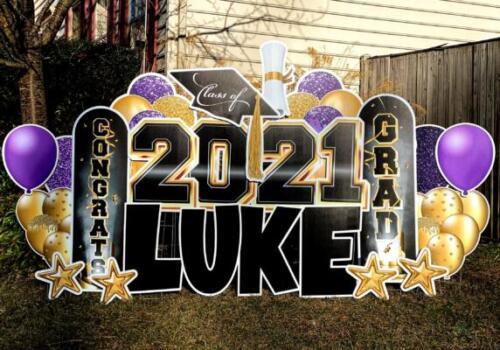 2021 graduation yard card purple burke va