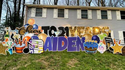 21 years birthday yard sign annandale va