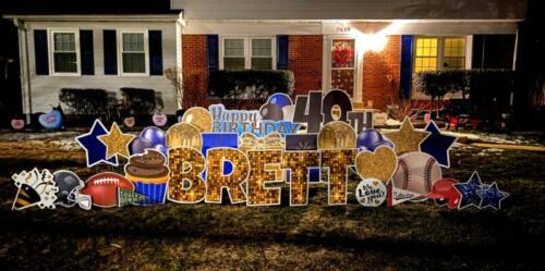 40th birthday brett yard sign alexandria va