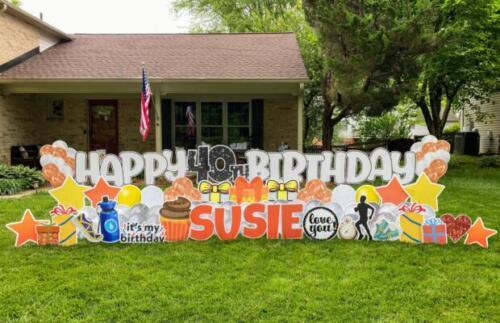40th birthday yard sign burke va