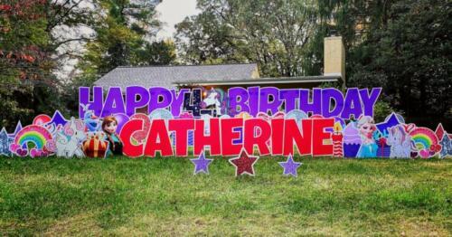 4th birthday yard sign falls church va