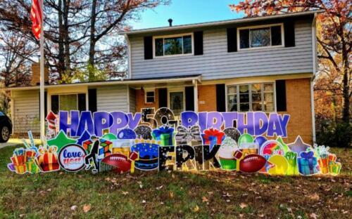 50th birthday yard sign springfield va