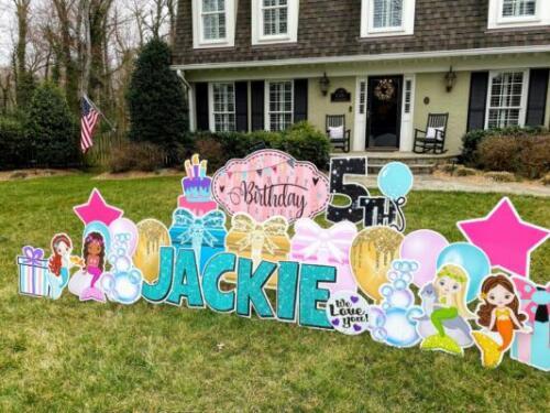 5th birthday yard signs alexandria va
