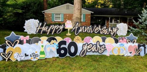 60th anniversary yard sign annandale va