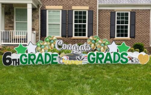 6th grade grads yard sign fairfax station va