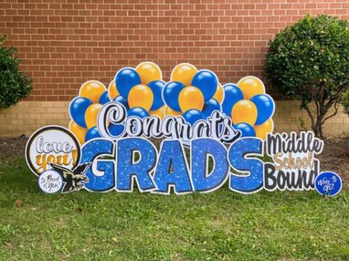 6th grade graduation yard card burke va