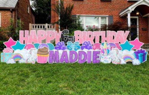 6th maddies birthday yard card alexandria va