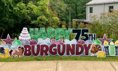 75th birthday burgandy farm alexandria va