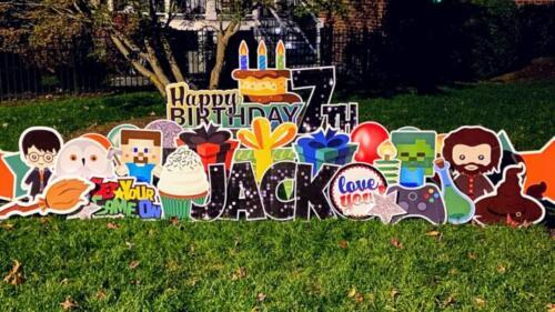7th happy birthday yard sign alexandria va
