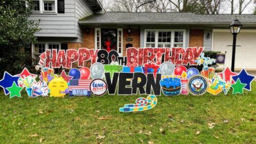 80th birthday yard card annandale va