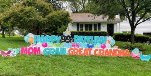 99th birthday yard sign