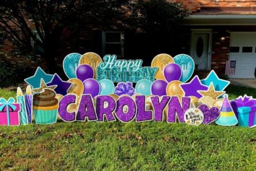 Carolyn birthday yard sign springfield va