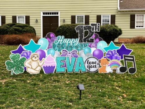 Evas birthday yard card alexandria va