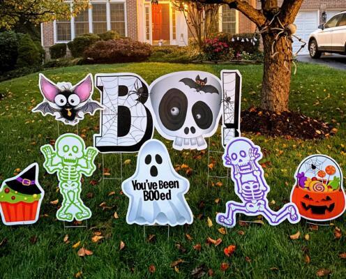 Halloween yard card Fairfax Station VA