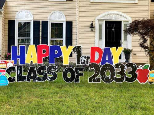 Back to school yard greeting centreville VA