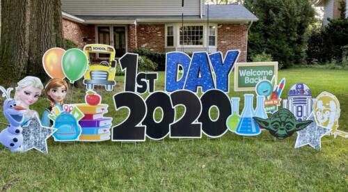 Back to school yard greeting west springfield VA