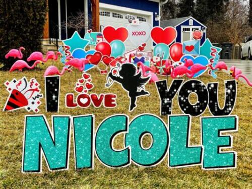 Nicole valentine's day yard card fairfax va