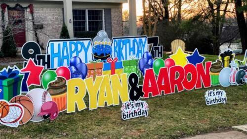 aaron and ryan birthday yard cards alexandria va