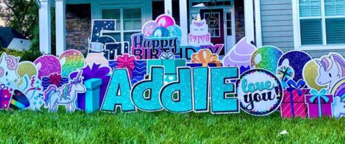 happy birthday yard sign springfield va
