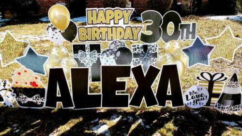alexa 30th birthday yard cards alexandria