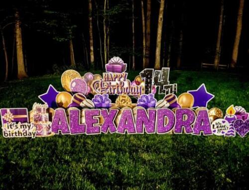 alexandra 14th birthday yard card fairfax station va