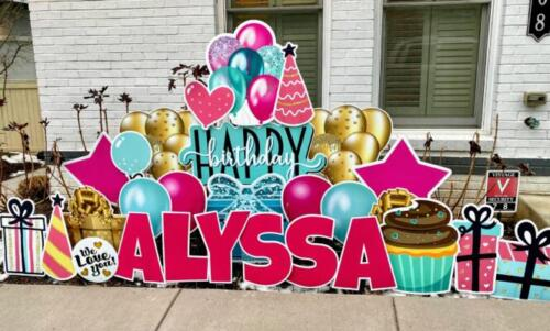 alyssa happy birthday yard card alexandria va