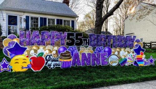 anne birthday yard sign burke va