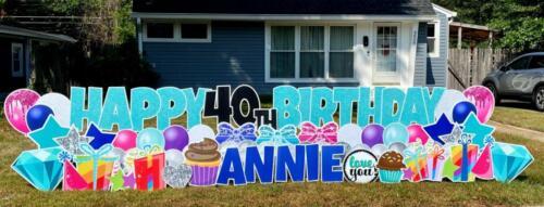 annie 40th birthday yard sign alexandria