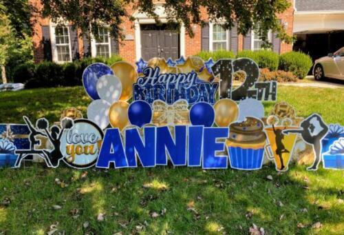 annie birthday yard sign springfield va