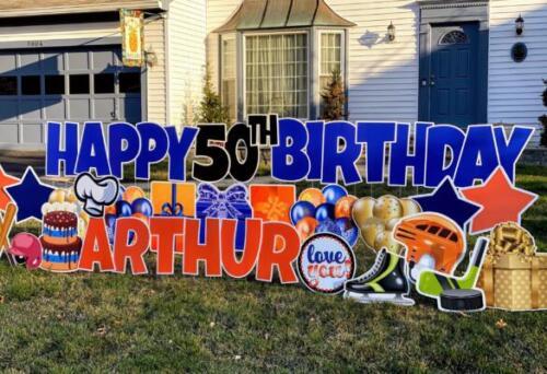 arthurs 50th birthday yard card burke va