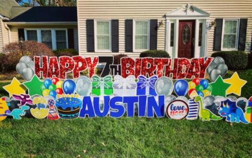austin 7th birthday yard card burke va