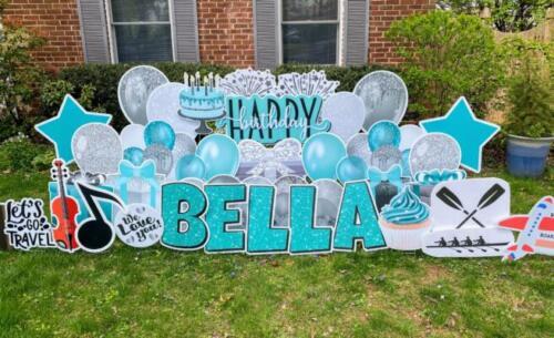 bellas tiffany blue birthday yard sign arlington va