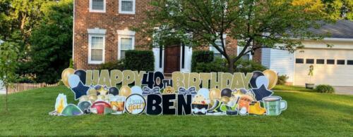 ben 40th birthday yard sign burke va