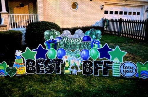bff birthday yard card fairfax va