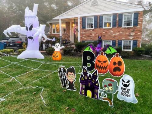 boo halloween yard sign springfield va