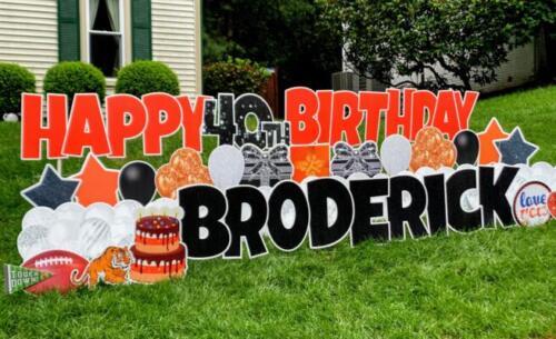 broderick birthday yard card 40th burke va