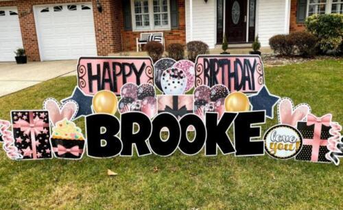brooke happy birthday yard sign springfiend va