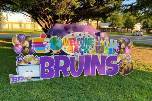 bruins back to school yard card burke va
