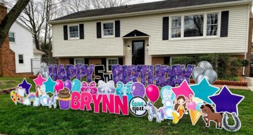 brynn birthday yard card alexandria va