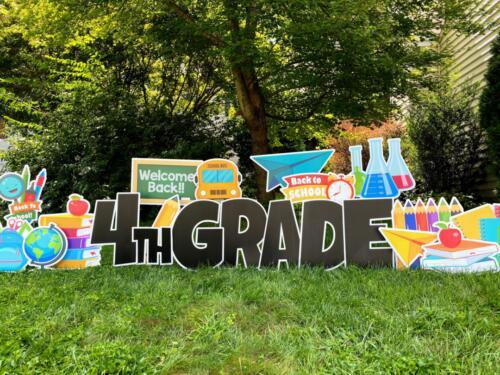 Back to school yard sign springfield VA
