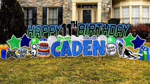 caden 11th birthday yard card burke va